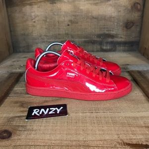Puma Basket Patent Cherry Red